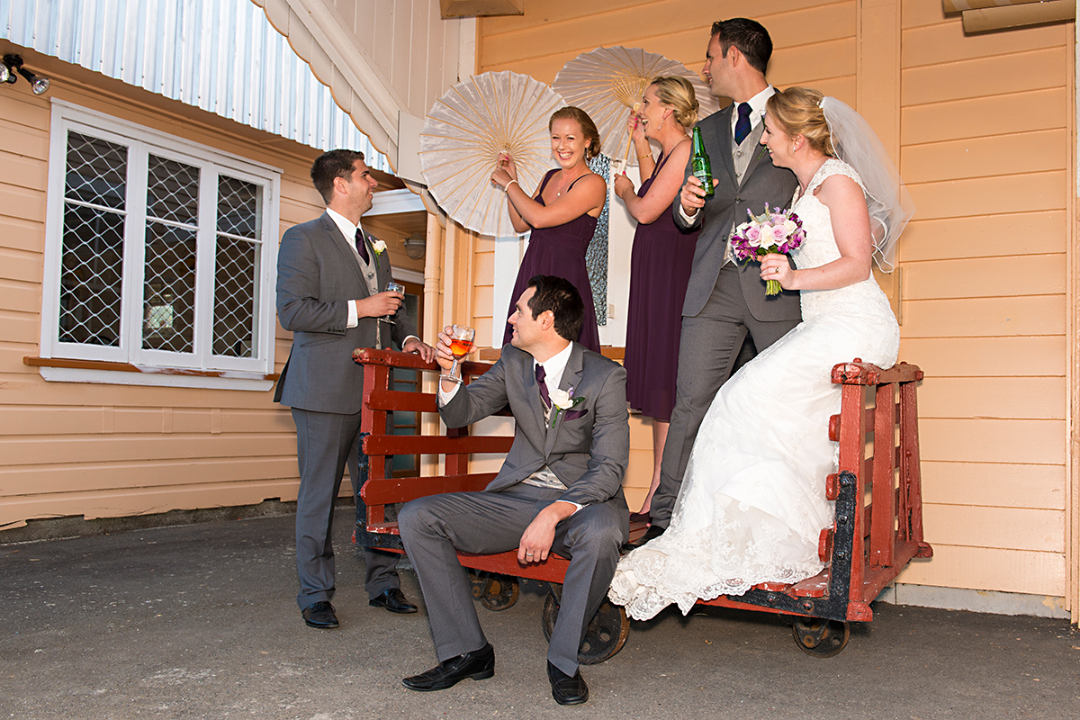 bridal party - wedding at heritage park Whangarei NZ